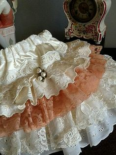 Items similar to Sample Sale, Flower Girl,Vintage lace and eyelet ruffled skirt by Rosanna Hope for Babybonbons Birthday and pageant on Etsy Ag Doll Clothes, Doll Clothes Patterns, Sewing Clothes, Dress Patterns, Little Girl Fashion, Little Girl Dresses, Kids Fashion, Girls Dresses, Fashion 2016