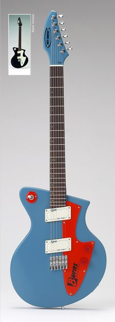 Italian designer Pagelli worked closely with Burns London to create the unique Jet-Sonic http://www.burnsguitars.com/jetsonicburnsguitars.php