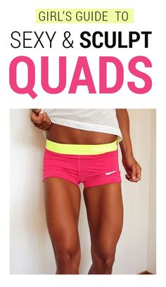 Girl's Quad Workouts - 8 Best Quad Exercises & Leg Workouts At Home