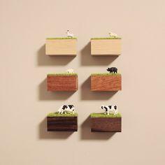 木と芝と生き物マグネット【木と生き物が選べる】 by しあわせねずみ 文房具・ステーショナリー マグネット