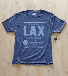 Feel like a jet-setter with a custom made LAX t-shirt from pilotandcaptain.com