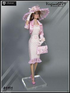 tenue outfit + accessoires pour fashion royalty barbie silkstone vintage #1191 in Jeux, jouets, figurines, Poupées, vêtements, access., Autres | eBay