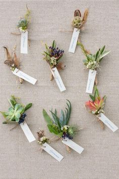 Boutonnieres for a rustic wedding | Designs by Hemingway and Jeannemarie Photography | see more on: http://burnettsboards.com/2014/07/vintage-bohemian-polo-inspired-wedding-hawaii/