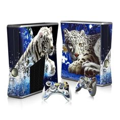 White Tiger Xbox 360 skin for Xbox 360 console and 2 controllers. Choose your favorite design from a huge range of Xbox 360 skins collection for Xbox 360 console.