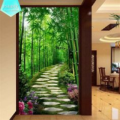 room wallpaper custom mural non-woven Wall sticker Hd 3 d sunshine forest path porch painting photo wallpaper for walls 3d Wall Murals, Door Murals, Art Mural, Painting Wallpaper, Room Wallpaper, Photo Wallpaper, Wallpaper Murals, 3d Wallpaper Background, Modern Wall Paint
