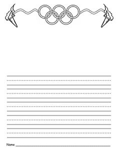Olympic Themed Writing Paper