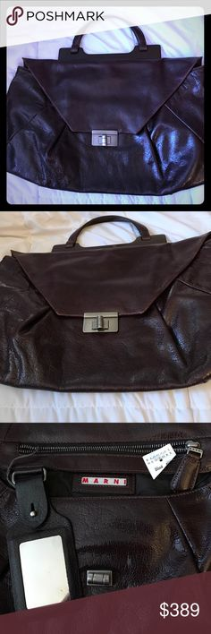 Stunning Marni Chocolate Brown Clutch Handbag💝🎀 Gorgeous MARNI handbag. Gently used arms still has tags from Barney's. Gorgeous style and color. Guaranteed many compliments. Super trendy and classy as Marni is. Great leather and beautiful! Some minimal wear. Love MARNI♥️ Marni Bags Clutches & Wristlets