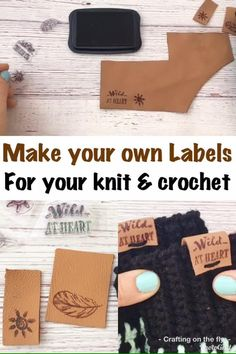 Diy Leather Labels, Diy Leather Stamp, Diy Leather Gifts, Leather Diy Crafts, Custom Leather, Leather Crafting, Make Your Own Labels, How To Make Leather, Custom Tags