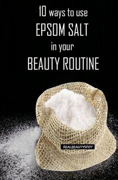 10 best ways use epsom salt - blackheads remedy, oily hair, splinter remover, dry lips, hair volumizer and much more...