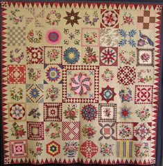 Vintage quilt inspiration:  Best of Show, Sarah Morrell quilt by Lynn Roos, 2010 Goldfields Quilters exhibition. The pattern was reproduced by Di Ford, of Primarily Patchwork fame, from an original by Sarah Morrell in the 1840s.