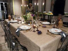 "Burlap Tablecloth 60"" x 126"" Large Premium Quality 100% Natural Refined Jute"