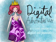 Digital Adventures — Journal Girl working with your ipad to create your digital journal