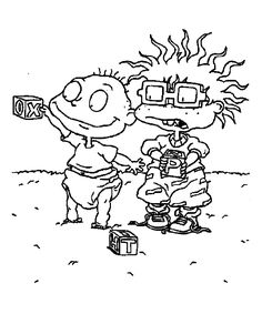 Chuckie Rugrats Lost Coloring Pages For Kids Printable
