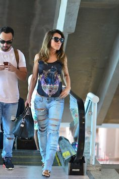 Sabrina Sato no aeroporto (Foto: FotoRioNews / William Oda)