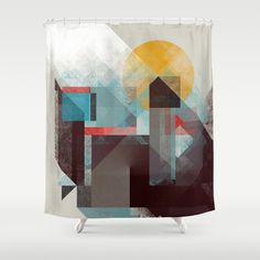 Over mountains Shower Curtain by Efi Tolia on Society6