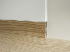 Aluminium and wood Skirting board METAL LINE 87/6 E 88/6 by PROFILPAS