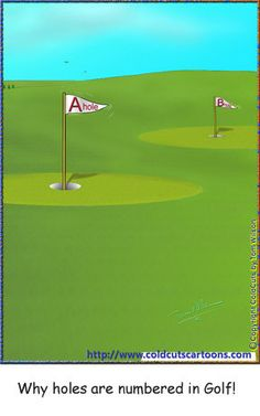 ColdCuts Cartoons Why holes are numbered in Golf