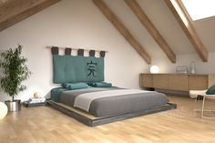 [Letto Dojo] Ideale per chi ama lo stile giapponese, con la sua cornice in legno… Gray Bedroom, Modern Bedroom, Japanese Style Bedroom, Asian House, Grey Sectional, Minimalist Bedroom, Bed Frame, Sweet Home, Room Decor