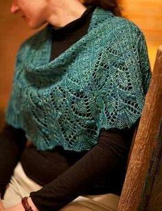Beautiful lace shawl and free pattern by opinionatedmuse