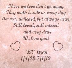 """Memory Tile for """"Lil Gran"""""""