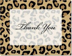 Fashionable Leopard Print Thank You Cards by IB Designs. $230.00. Product DescriptionFashionable Leopard Print Thank You Cards Animal Print Thank You Notes by IB Designs