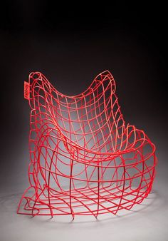 Dematerializat on Furniture Light Wire Structure Fatboy Chair