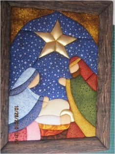 best ideas about Patchwork Christmas Nativity Scene, Felt Christmas, Christmas Projects, Holiday Crafts, Christmas Time, Christmas Ornaments, Christmas Patchwork, Image Deco, Church Banners