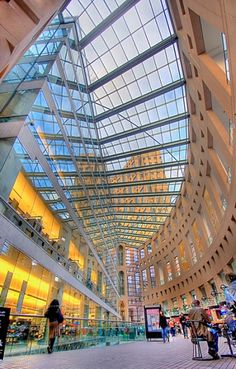 Vancouver Public Library in Canada is a nine-story glass building. It looks like a huge ball