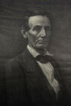 This is a print of a wood engraved portrait of Abraham Lincoln by engraver Gustav Kruell (1843 – 1907). The print is signed and copyrighted 1891. The portrait is based on a photograph of Lincoln taken by Samuel M. Fassett in 1859 in Chicago. Mrs. Lincoln considered it the best likeness of her husband that she had ever seen. It presents Lincoln as he appeared just before his nomination for the Presidency. The original negative was destroyed in the Great Chicago Fire of 1871 (Miller, p. 29).