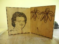 Wood burning that will be turned in to a clock. Using the photomania app.