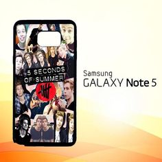5 seconds of summer 5sos collage luke hemmings V1355 Samsung Galaxy Note 5 Case