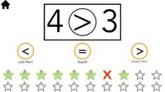 Comparing Numbers App Find Greater & Less Than on iPads