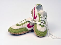 Crochet Nike-Sneakers Inspiration ❥ 4U // hf
