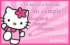 Tarjeta de cumpleaños de Kitty Hello Kitty Birthday Invitations, Hello Kitty Imagenes, 2nd Birthday, Birthday Parties, Pink Themes, Cat Party, Fiesta Party, Party Invitations, Birthdays