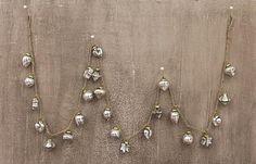 "MERCURY GLASS ORNAMENT GARLAND, ANTIQUE SILVER, 36""L"