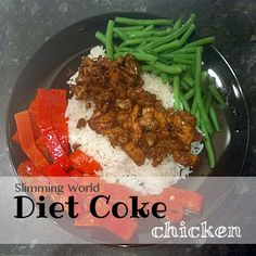 Diet Coke chicken - Syn-free on Slimming World, but one of my favourite dinners, even when I'm not on plan. It's so easy to make and everyone who eats it loves it. I make mine with Chinese five-spice and it's just as tasty as anything you'd get from a Chinese takeaway. I also love as Fanta chicken - using Fanta Zero and Thai seven-spice.