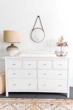 White Changing Table Dresser – Deco World White Changing Table Dresser, White Dressers, Changing Tables, Knobs For Dressers, White Bedroom Dresser, Ikea Hemnes Changing Table, Ikea White Dresser, White And Gold Dresser, Decor Room