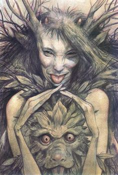 Faerie by Brian Froud. If anyone has ever actually seen a fairy, I think it's this man. There's something...so real, about his art.