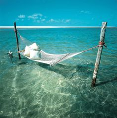 Hammock in the ocean
