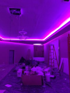 LED tape in soffet millions and millions of colors #LED #LEDlighting #colors #Cateringhall #bronx #NYC #sweet16 #weddings #weddingreception #secondgenerationLLC