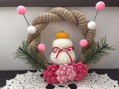 【編み図】かぎ針で編むしめ縄リース(リース本体)   かぎ針編みの無料編み図 ATELIER *mati* Crochet Motif, Crochet Toys, Knit Crochet, Crochet Patterns, Japanese New Year, Chrochet, Diy And Crafts, Wreaths, Embroidery