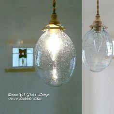 [【Japan madeのガラスシェードセット】0023 バブル(ブルー) - SELFISH +NET SHOP+   おしゃれな照明・天然木の家具・かわいい雑貨   セルフィッシュ