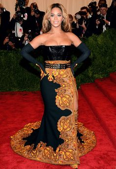 2013 Met Ball - Beyonce Knowles  Givenchy Haute Couture by Riccardo Tisci custom