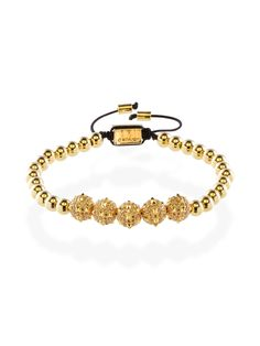 The morning star Men's gold spike bracelet is inspired in the weapon Morning Star, which consisted of a spiked club, used by the professional soldiers.