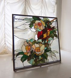 Stained Glass Flowers, Stained Glass Panels, Fused Glass Art, Stained Glass Art, Mosaic Glass, Stained Glass Projects, Stained Glass Patterns, Glass Painting Designs, Mirror Painting