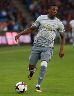 Anthony Martial of Manchester United in action against Valerenga today at Ullevaal Stadion on July 30, 2017 in Oslo, Norway.