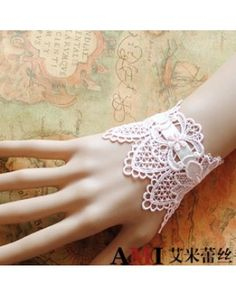 Charm Light Pink Wide Lace Bracelet