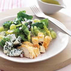 Roast Chicken with Grape and Blue Cheese Salad | from QVC's Lisa Robertson...thanks.