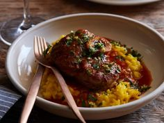 Get Osso Buco with Risotto Milanese Recipe from Food Network