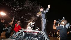 NASCAR Race Mom: Pena Back In Victory Lane #nascar #kneast  #NASCAR Race Mom - The 21-year-old from Winchester, Va., Sergio Pena held off the NASCAR #KNEAST field following a late caution at Columbus Motor Speedway to win the JEGS 150 presented by Germain Toyota.